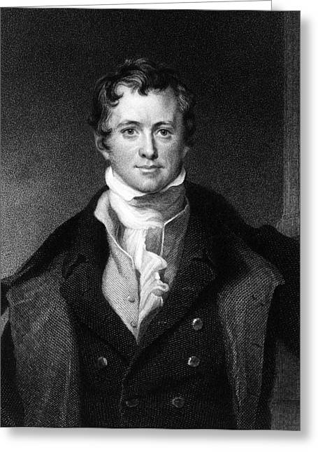 Sir Humphry Davy, English Chemist Greeting Card by Middle Temple Library