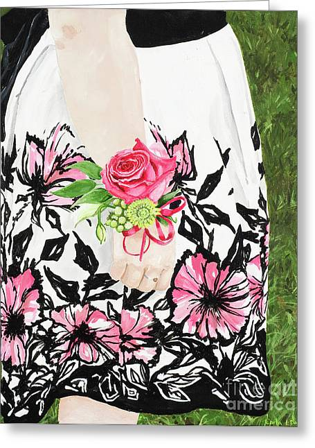 Sister Of The Groom Greeting Card by Carla Dabney