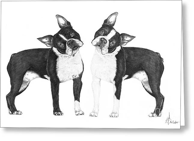 Boston Terriers Greeting Card