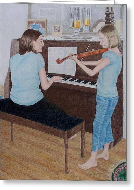 Sisters Greeting Card by Karen Brannon