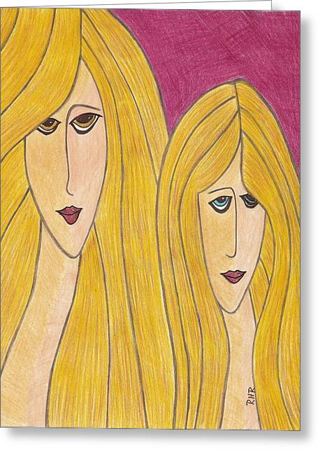 Sisters Greeting Card by Ray Ratzlaff