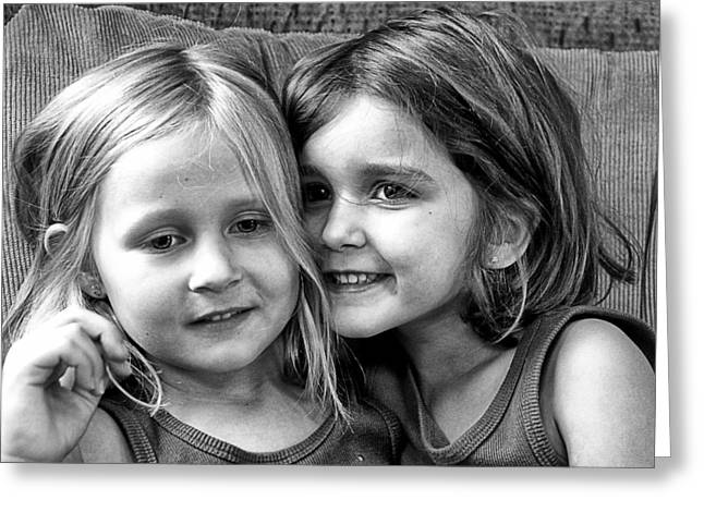 Sisters Greeting Card by Robert Toth