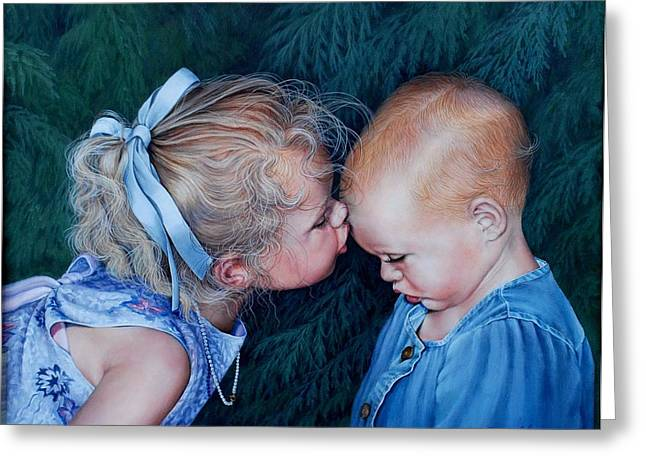 Sisters Greeting Card by Ruth Gee