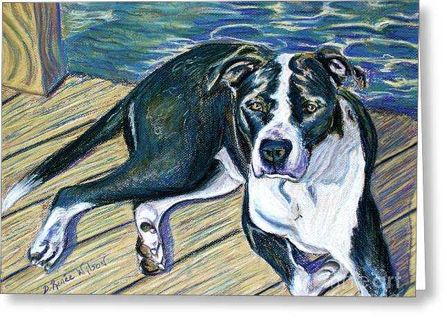 Greeting Card featuring the painting Sittin' On The Dock by D Renee Wilson