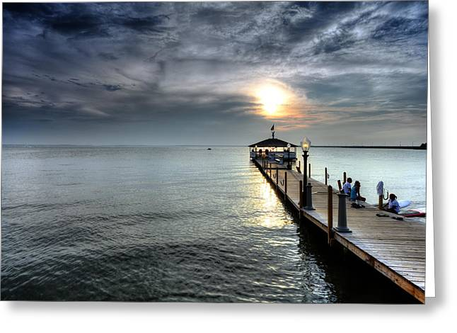 Sittin On The Dock Of The Bay Greeting Card by Edward Kreis