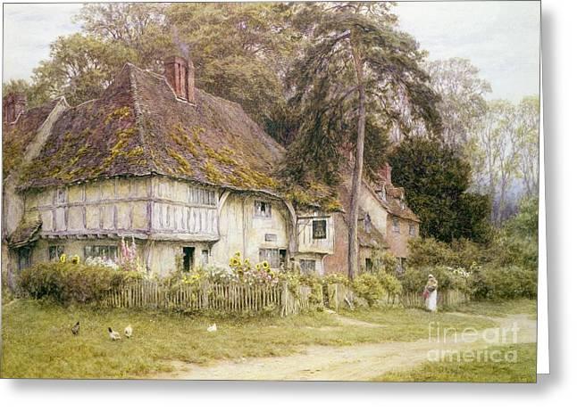 Six Bells Hollingbourne Kent  Greeting Card by Helen Allingham