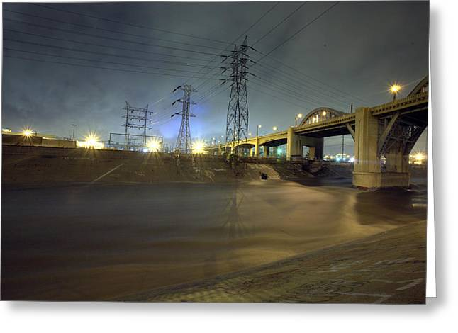 Sixth Street Storm Greeting Card by Kevin  Break