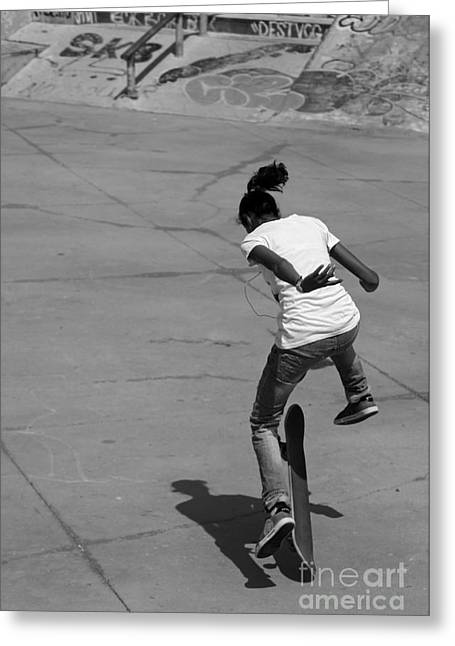 Sk8r Girl Greeting Card by Urban Shooters