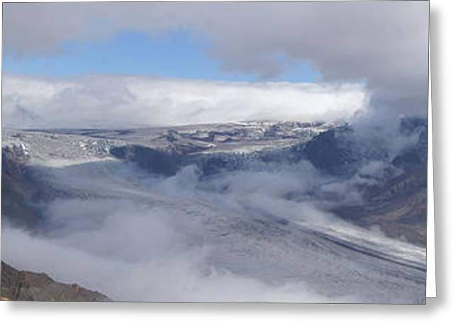 Skaftafell Panorama Greeting Card by Rudi Prott