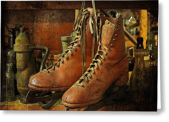 Greeting Card featuring the photograph Skates by Karen Lynch