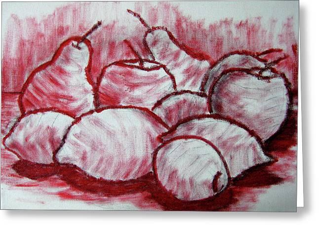 Sketch - Tasty Fruits Greeting Card