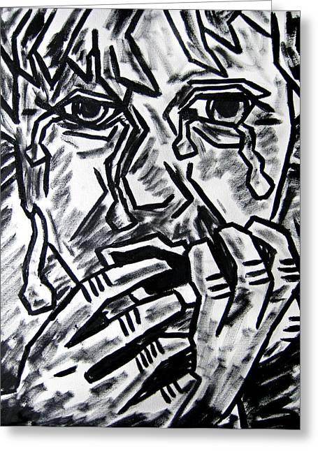 Sketch - Weeping Child Greeting Card by Kamil Swiatek
