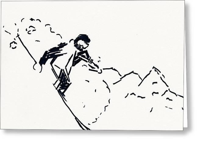 Skier V Greeting Card
