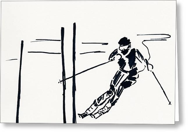 Skier Vi Greeting Card