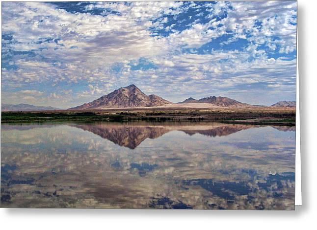 Greeting Card featuring the photograph Skies Illusion by Tammy Espino