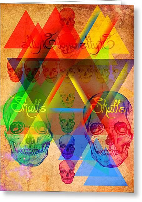 Skulls And Skulls Greeting Card by Kenal Louis