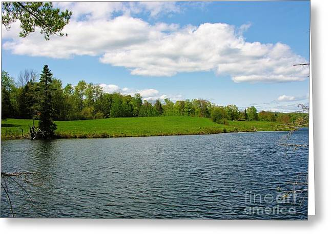 Greeting Card featuring the photograph Sky And Water Almost Meet by Sherman Perry