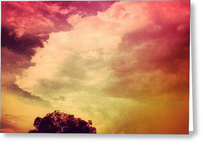 #sky #cary #colourful #clouds ☁ Greeting Card by Katie Williams