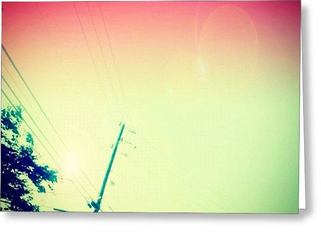 #sky #edit #cary #prettycolors #pink Greeting Card