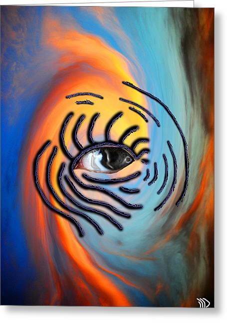 Sky Eyes Greeting Card by William Beasley