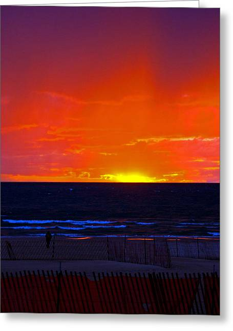 Greeting Card featuring the photograph Sky Fire by Randall  Cogle