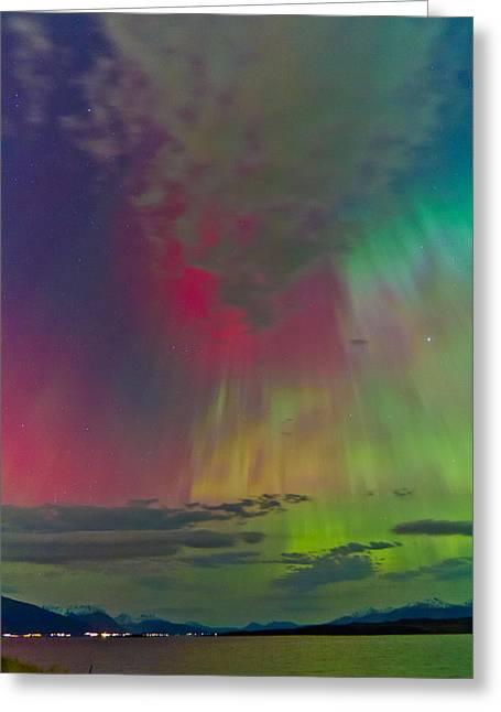 Sky Full Of North Light Greeting Card by Frank Olsen