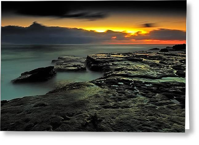 Sky Of Fire Greeting Card by Mark Lucey