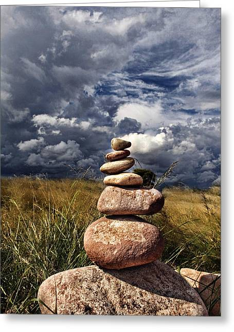 Sky Of Stone Greeting Card by Gabriel Calahorra