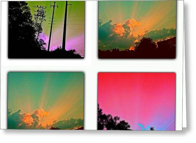 Sky Pop Art Greeting Card by Stacy Sikes