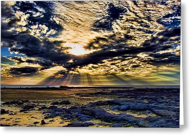 Sky Window Greeting Card by Douglas Barnard