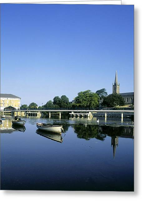 Skyline Over The River Garavogue, Sligo Greeting Card by The Irish Image Collection