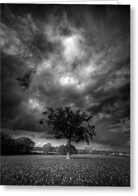 Greeting Card featuring the photograph Skys Of Fury  by John Chivers