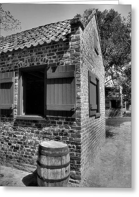 Slave Cabins Greeting Card by Steven Ainsworth