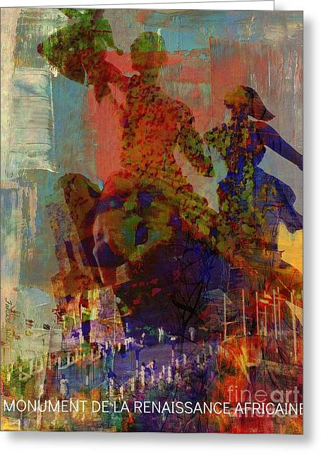 Slave Trade - In The Memory Of People We Sold Greeting Card by Fania Simon