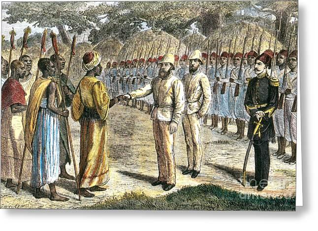 Slave Trader Surrenders To Baker, 1869 Greeting Card