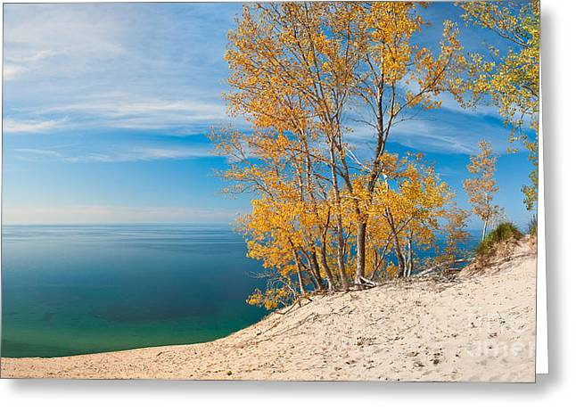Sleeping Bear Dunes Vista 001 Greeting Card