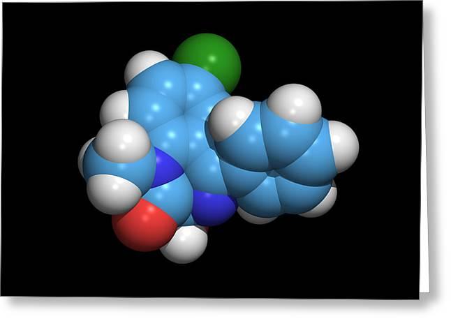 Sleeping Pill Molecule Greeting Card by Dr Tim Evans