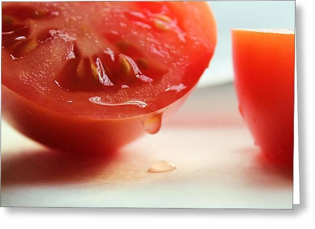 Sliced Tomato Greeting Card