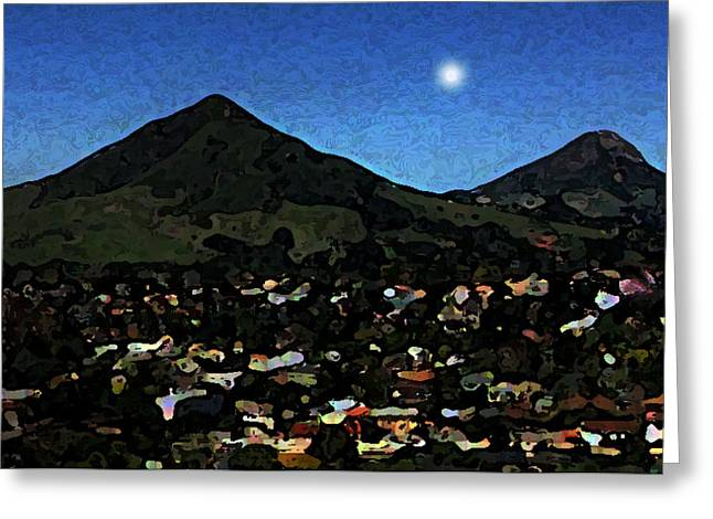 Slo Setting Moon Greeting Card by TB Schenck