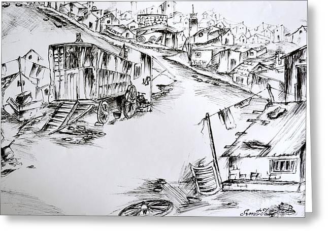 Slum Greeting Card by Sumit Jain