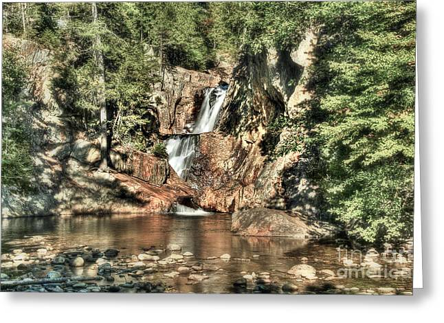 Small Falls Greeting Card by Brenda Giasson