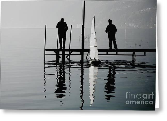 Small Sailing Boat Greeting Card by Mats Silvan