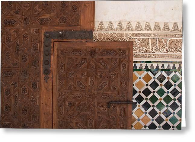 Small Slide Bolt Alhambra Greeting Card