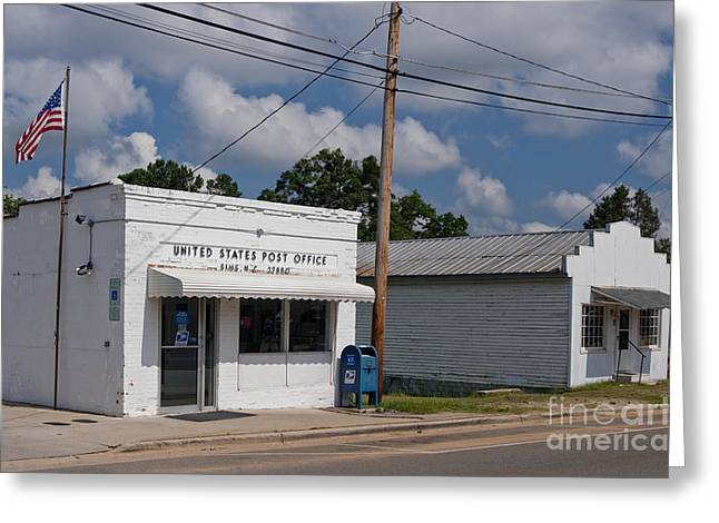 Small Town Post Office Greeting Card by Will & Deni McIntyre