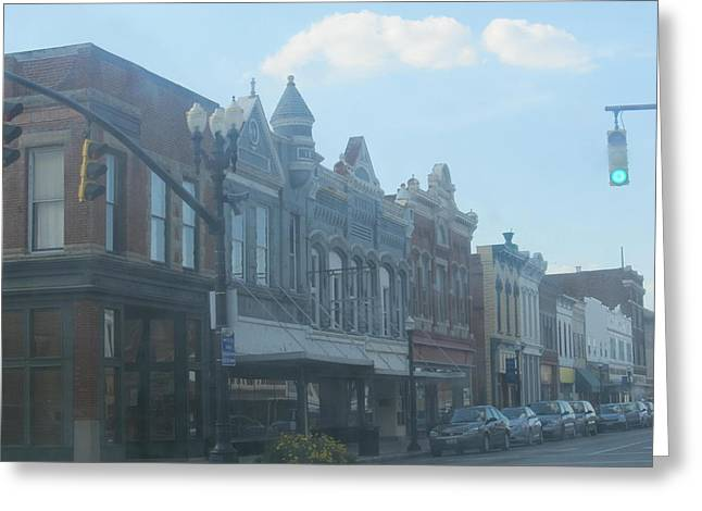Greeting Card featuring the photograph Small Town Proper by Tina M Wenger