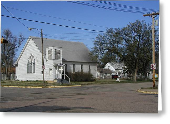 Small Town Religion Greeting Card by Steve Sperry