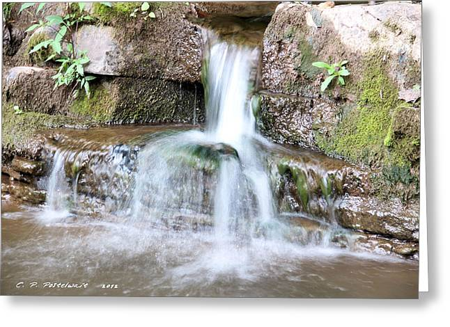 Small Waterfall Greeting Card by Carolyn Postelwait