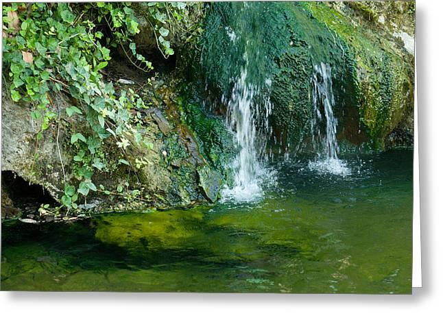 Small Waterfall Greeting Card by Joseph Shaffer