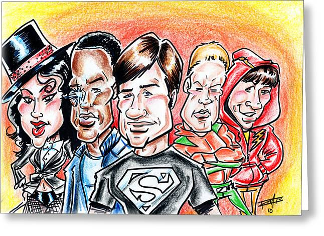 Smallville Greeting Card by Big Mike Roate