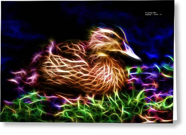 Smile Juvenile Mallard - Fractal Greeting Card